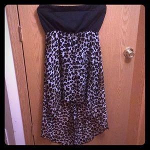 Cheetah print high-low dress